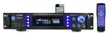 Pyle P2002ABTI 2000 Watts Hybrid Receiver and Pre-Amplifier with AM-FM Tuner/iPod Docking Station an