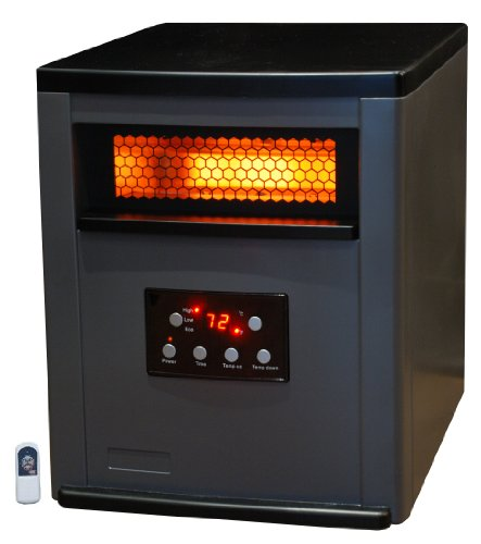 Lifesmart Life Pro Large Room 6 Element Infrared Heater w/Remote