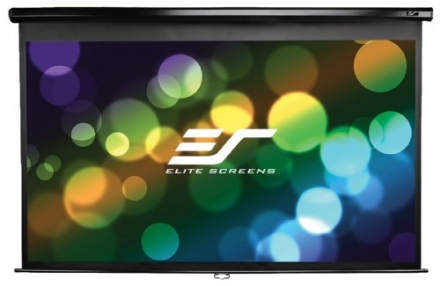 Elite Screens 106 Inch 16:9 Manual Pull Down Projector Screen (52″Hx92.4″W)(24″ Drop)