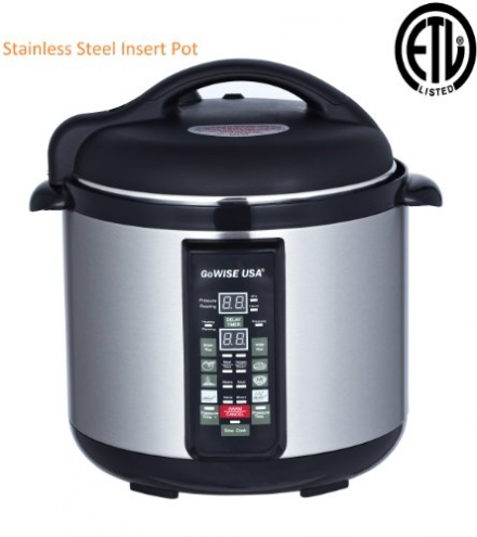 Stainless-steel Cooking Pot/ 6-in-1 Electric Pressure Cooker/Slow Cooker (8 QT)