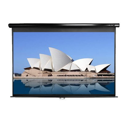 Elite Screens 139 Inch 16:10 Manual Pull Down Projection Screen (73.3″Hx117.3″W)