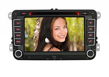 Pumpkin For VW Series/Seat Series/Skord Series Double-DIN Car DVD Player SD/USB/BT/GPS/AM/FM Radio 7