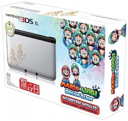 Nintendo 3DS XL, Silver – Mario & Luigi Dream team Limited Edition