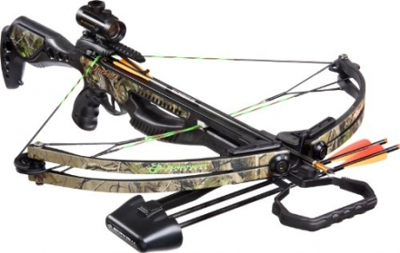 Barnett Jackal Crossbow Package (Quiver , 3 – 20-Inch Arrows and Premium Red Dot Sight)