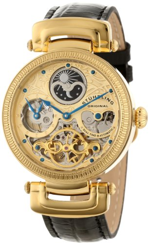 Stuhrling Original Men's 353A.333531 Special Reserve Emperor Magistrate Automatic Skeleton Dual Time