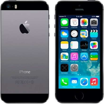 New Factory Unlocked ~ 16gb Space Gray Apple Iphone Five-s ~ Black Fast Shipping Ship Worldwide Spec