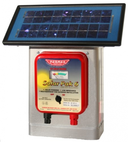 Parmak DF-SP-LI Solar Pak 6 Low Impedance 6-Volt Battery-Operated 25-Mile-Range Electric Fence Charg