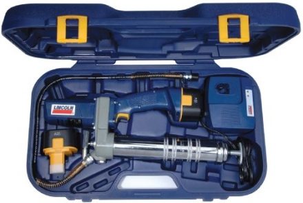 Lincoln Lubrication 1244 PowerLuber 12 Volt Cordless Grease Gun with Battery Kit
