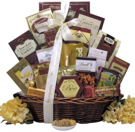 Great Arrivals Sympathy Gift Basket, Our Sincere Condolences