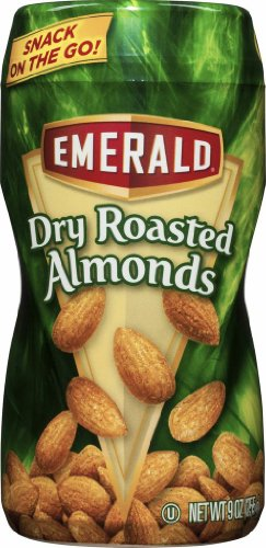 Emerald Roasted Almonds, Dry, 9 Ounce (Pack of 12)