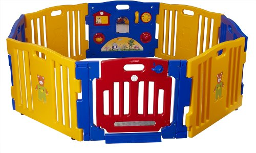 Baby Diego Cub'Zone Playpen and Activity Center, Yellow/Blue/Red