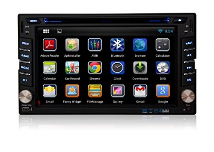 PUMPKIN Android 4.2 Universal DVD Player Car GPS/Bluetooth/SD/USB/FM/AM Radio 6.2 Inch Capacitive HD