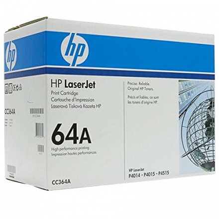 HP LaserJet 10K Black Toner Cartridge Contains One HP LaserJet CC364A Standard C