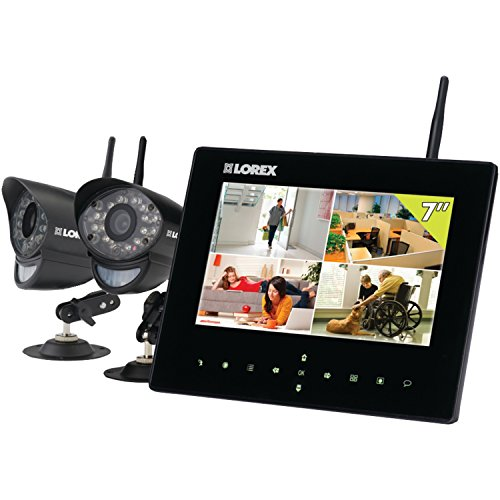 Lorex LW2732 Live LCD SD Recording Monitor with Two Wireless Cameras (black)