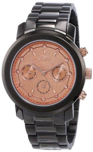 JBW Women's J6277C Gunmetal Stainless Steel Diamond-Accented Watch