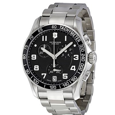Victorinox Men's 241494 Chrono Classic Analog Display Swiss Quartz Silver Watch