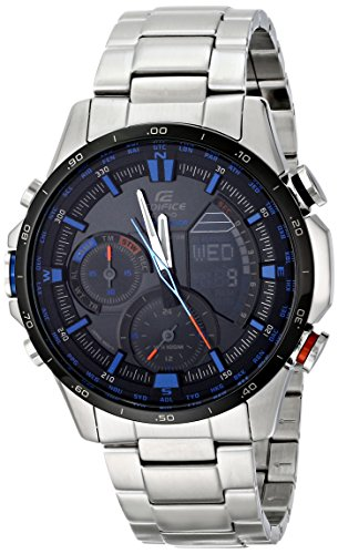 Casio Men's ERA-300DB-1A2VCR Neon Illuminator Analog-Digital Display Quartz Silver Watch