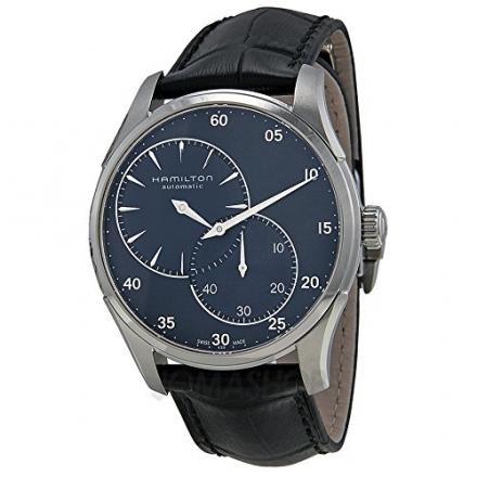 Hamilton Jazzmaster Regulator Automatic Blue Dial Black Leather Mens Watch H42615743