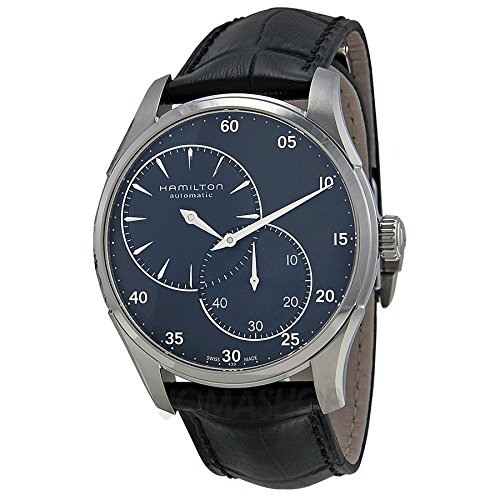 Hamilton Jazzmaster Regulator Automatic Blue Dial Black Leather Mens Watch H42615743