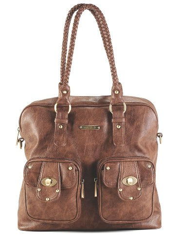 timi & leslie Rachel 7-Piece Diaper Bag Set, Caramel