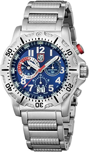 Luminox Men's Dive 8154.RP Silver Stainless-Steel Swiss Quartz Watch with Blue Dial