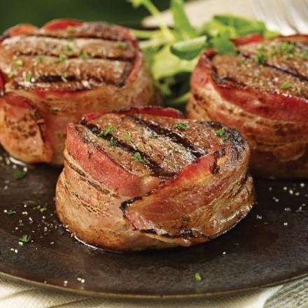 Omaha Steaks 12 (5 oz.) Bacon-Wrapped Filet Mignons