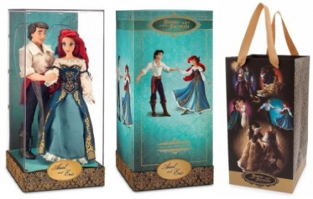 Ariel and Eric Doll Set Disney Fairytale Designer Collection Disney Store The Little Mermaid Limited