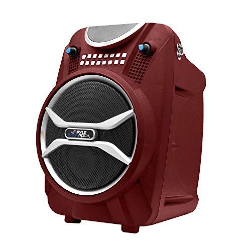 Pyle Boom Rock PWMAB210RD Bluetooth Karaoke Speaker Recording System, Rechargeable Battery, Wireless