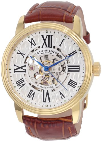 "Stuhrling Original Men's 1077.3335K2 ""Classic Delphi Venezia"" Stainless Steel Automatic Watch with L"