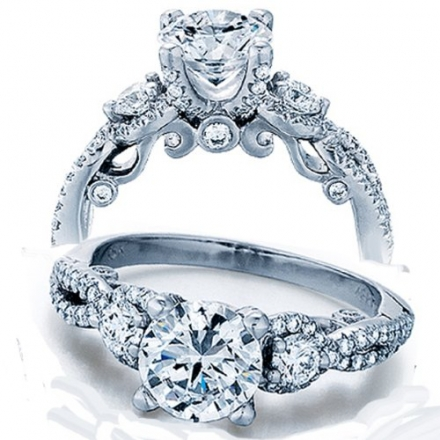 1.50 Carat (ctw) 14K White Gold Round Diamond Ladies Bridal Vintage 3 Stone Engagement Ring 1 1/2 CT