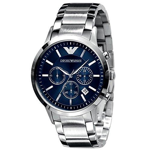Emporio Armani Men's AR2448 Classic Blue Dial Chronograph Watch