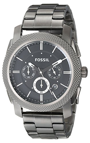 Fossil Men's FS4662 Machine Chronograph Stainless Steel Watch – Smoke