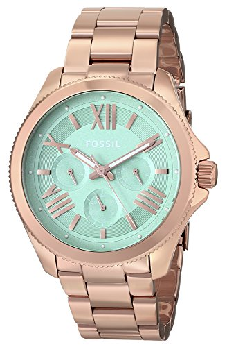 Fossil Women's AM4540 Cecile Multifunction Stainless Steel Watch – Rose Gold-Tone
