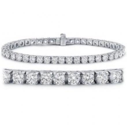 3-7 Carat IGI Certified Classic Tennis Bracelet 14K White Gold Value Collection