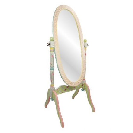 Fantasy Fields – Crackled Rose Standing Mirror