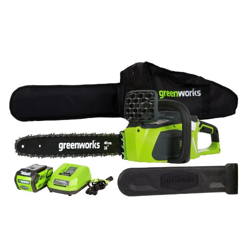 GreenWorks 20312 DigiPro G-MAX 40V Li-Ion 16-Inch Cordless Chainsaw, (1) 4AH Battery and a Charger I