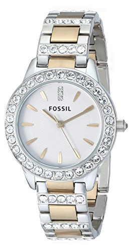 Fossil Women's ES2409 Jesse Stainless Steel Three Hand Watch – Silver and Gold Two-Tone