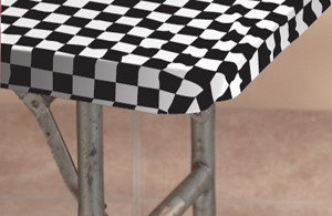 Kwik-Covers 3096Pk-Blkw 30 Inch X 96 Inch Packaged Kwik-Cover- Black- White Check- Pack of 25