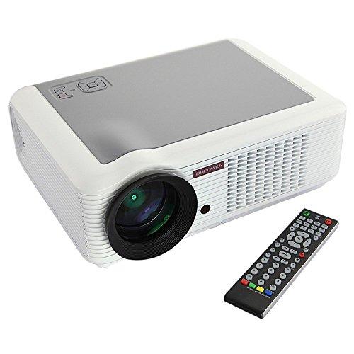 DBPOWER LED 66 Video Projector Home Cinema 854*540 2000 Lumens 2*USB YPBPR VGA HDMI AV for School Te
