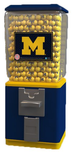 Classic 18″ Officially Licensed University of Michigan Gumball Machine with 1″ U of M Gumballs