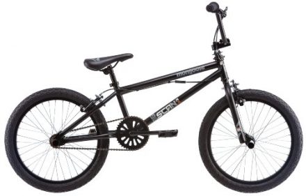 Mongoose 20-Inch Boy's Scan R10 Freestyle Bicycle, Black