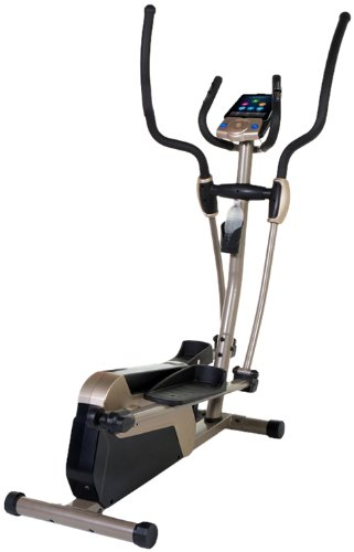 Exerpeutic 5000 Magnetic Elliptical Trainer with Double Transmission Drive/Bluetooth Technology/Mobi