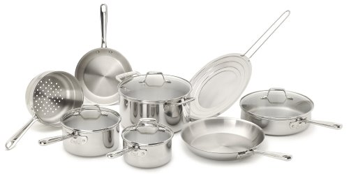 Emeril by All-Clad E914SC64 PRO-CLAD Tri-Ply Stainless Steel Dishwasher Safe PFOA Free Cookware Set,