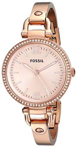 Fossil Women's ES3226 Georgia Analog Display Analog Quartz Rose Gold Watch