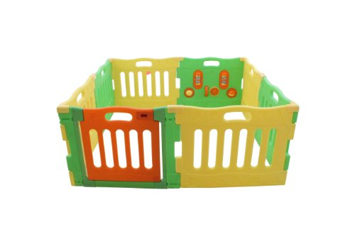 Baby Diego PlaySpot Playard and Activity Center, Yellow/Green/Orange