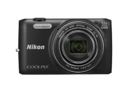 Nikon COOLPIX S6800 16 MP Wi-Fi CMOS Digital Camera with 12x Zoom NIKKOR Lens and 1080p HD Video (Bl