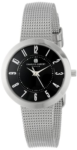 Charles-Hubert, Paris Women's 6948-B Premium Collection Black Dial Watch