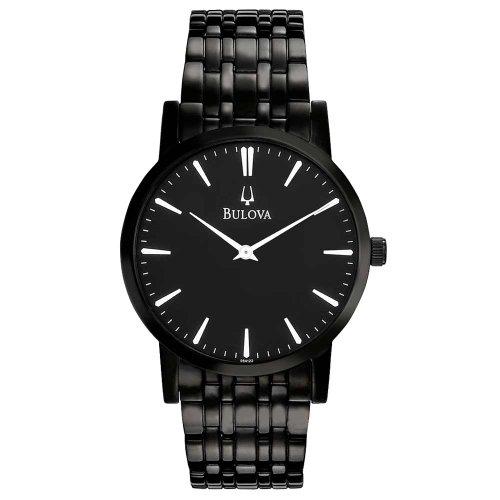 Bulova Men's 98A122 Black IP Watch