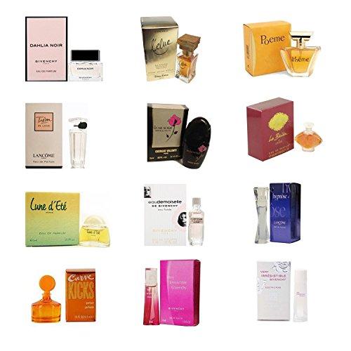 Wholesale Perfume Lots: Perfume Mini Set For Women – Package Set of 12 Mini Sample Size Designer Per