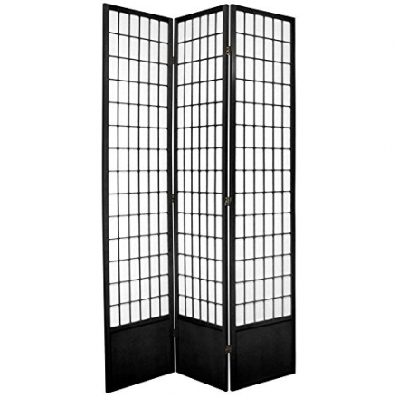 Oriental Furniture Best Classic Asian Design, 7-Feet Window Pane Japanese Shoji Screen Room Divider,